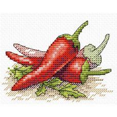 Набор для вышивания крестом Алый перец, 11x8,5, Жар-Птица (МП-Студия)