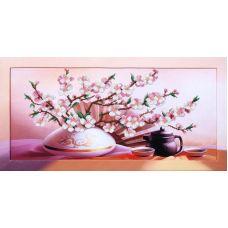 Набор для вышивания бисером Восточное чаепитие, 57x29, Магия канвы