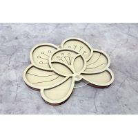 Органайзер для бисера Цветок, 10x11, Щепка (МП-Студия)