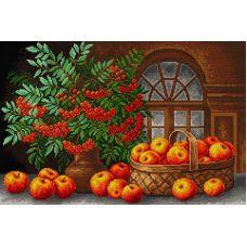 Алмазная мозаика Осенний натюрморт, 40x60, полная выкладка, Вышиваем бисером