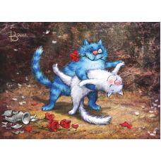 Живопись по номерам Кошачье танго, 40x50, Paintboy, GX22934