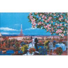 Набор для вышивания бисером Парижский поцелуй, 45x28,5, Магия канвы