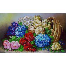 Схема Принт для вышивки бисером Цветочное изобилие, 22x38, Вышиваем бисером