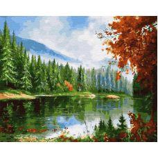 Живопись по номерам Таежная река, 40x50, Paintboy, GX28060