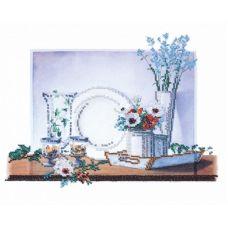 Набор для вышивания бисером Натюрморт на белом-2, 35x30, Овен