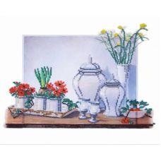 Набор для вышивания бисером Натюрморт на белом, 35x30, Овен