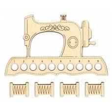 Органайзер + 4 бобины для ниток Швейная машинка, 12x20, Щепка (МП-Студия)