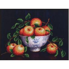 Набор для вышивания бисером Вкус лета Яблоки, 34x25,5, Магия канвы