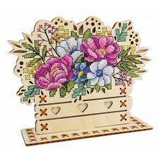 Набор для вышивания крестом Цветочная композиция, 14x17, Щепка (МП-Студия)