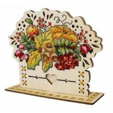 Набор для вышивания крестом Осенний букет, 13x16, Щепка (МП-Студия)