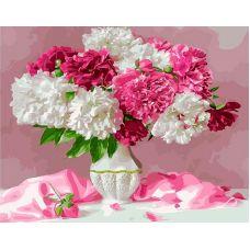 Живопись по номерам Бело-розовые пионы, 40x50, Paintboy, GX25127