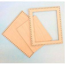 Декоративная рамка прямоугольная малая, 13x15,5 (10x12), Щепка (МП-Студия)
