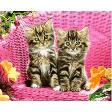 Живопись по номерам Зеленоглазые котята, 40x50, Paintboy, GX26530