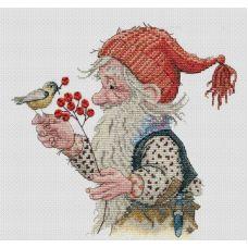 Набор для вышивания крестом Зимнее лакомство, 21x23, НеоКрафт