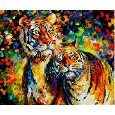 Схема Принт для вышивки бисером Тигры, 29x36, Вышиваем бисером