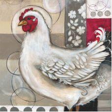 Наволочка Романтическая курица, 39x39, Матренин Посад