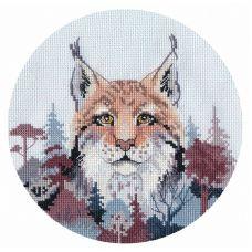 Набор для вышивания крестом Миниатюра. Рысь, 15x14, Овен