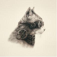 Наволочка Супер кот, 39x39, Матренин Посад