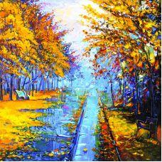 Наволочка шелковистая Голубая осень, 39x39, Матренин Посад