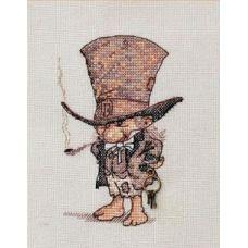 Набор для вышивания крестом Джентельмен в шляпе, 9x13, НеоКрафт