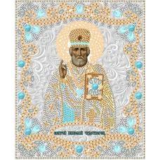 Ткань для вышивания бисером Святой Николай Чудотворец, 15x18, Конек