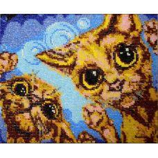 Набор для вышивания Коты, 18,5x23, Вышиваем бисером