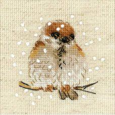 Набор для вышивания крестом Воробушек, 10x10, Риолис, Сотвори сама