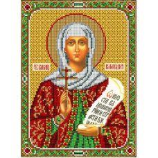 Набор для вышивания Святая Клавдия, 20x27, Вышиваем бисером
