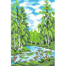 Набор для вышивания крестом Лето в лесу, 14x21 (21x30), МП-Студия