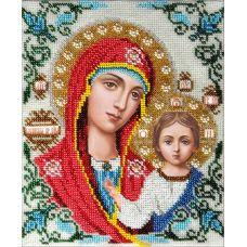Набор для вышивания Казанская Богородица, 19x24, Вышиваем бисером