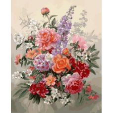 Живопись по номерам Цветочная фантазия, 40x50, Paintboy, GX8870
