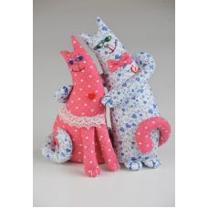 Набор для шитья Влюбленные коты, 26см, Перловка