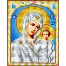Набор для вышивания бисером Казанская Богородица , 12,5x16, Каролинка