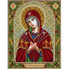 Набор для вышивания бисером Святая Богородица Умягчение злых сердец, 20x25, Паутинка