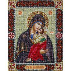 Набор для вышивания бисером Святая Богородица Ярославская, 20x25, Паутинка