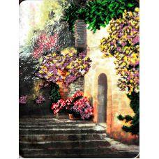 Схема Принт для вышивки бисером Цветущий дворик, 34x27, Вышиваем бисером