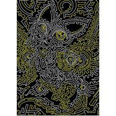 Схема Принт для вышивки бисером Узор: кошка, 29x41, Вышиваем бисером
