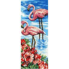 Набор для вышивания бисером Фламинго, 40x15, МП-Студия