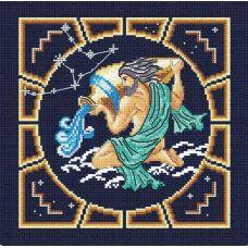 Набор для вышивания бисером Водолей, 20x20, МП-Студия