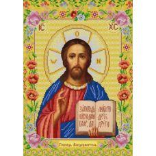 Ткань для вышивания бисером Господь Вседержитель, 29x39, Конек