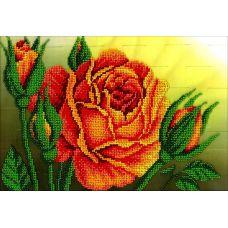 Набор для вышивания Королева цветов, 19x27, Вышиваем бисером