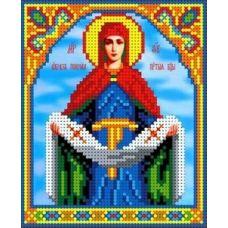 Ткань для вышивания бисером Покров Пресвятой Богородицы, 13x15,5, Каролинка