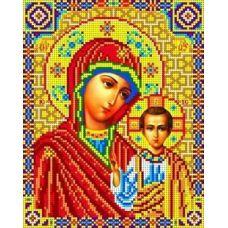 Набор для вышивания бисером Богородица Казанская, 18,5x23, Каролинка