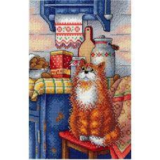 Набор для вышивания крестом Любопытный, 22x15, МП-Студия