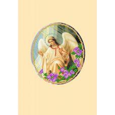 Набор для вышивания с бисером и паспарту Ангел 2, 24x26 (14x16), Матренин посад