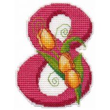 Набор для вышивания крестом Магнит 8 марта , 7x9,5, Овен