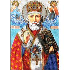 Набор для вышивания Святой Николай Чудотворец, 24x35, Вышиваем бисером