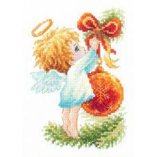 Набор для вышивания крестом Ангел рождества, 10x15, Чудесная игла