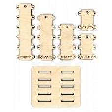Бобины для ниток + подставка Простые, 3,5x11, Щепка (МП-Студия)