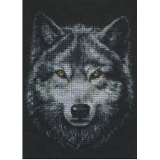 Набор для вышивания Взгляд волка, 21x27, Палитра